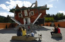 Upside Down House in Austria. Photo Credit Reuters