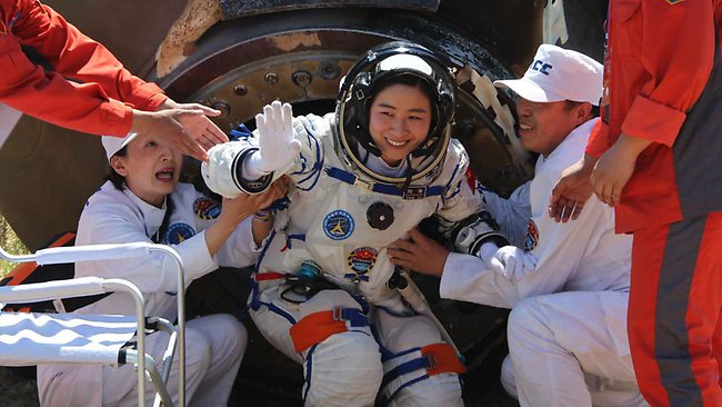 China astronauts back from space mission