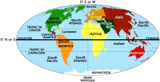 Hemisphere map Photo Credit:worldatlas.com