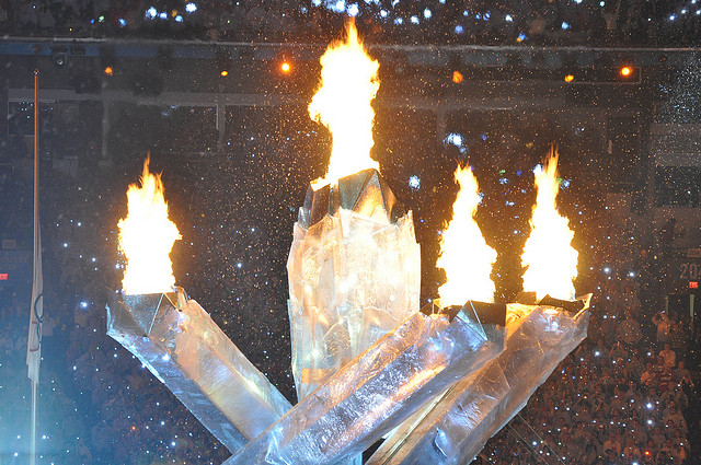 Opening Ceremomy Olympic Flame