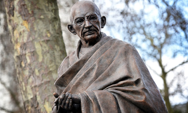 A 9 Feet Tall Statue of Gandhiji, unveiled in London's Parliament Square in 2015 to mark 100 years of his return to India from South Africa