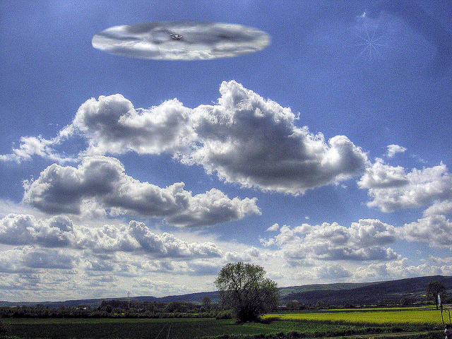Unusual UFO look alike cloud
