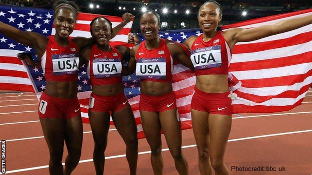 US wins 4X100m relay