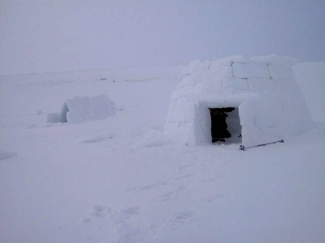 Igloo on the Cairngorm Plateau