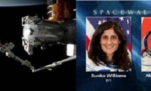 Sunita William's fifth spacewalk