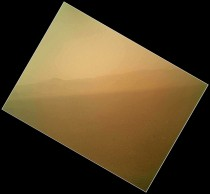Curiosity sends first color image from Mars