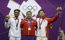 Vijay Kumar wins a silver medal for shooting