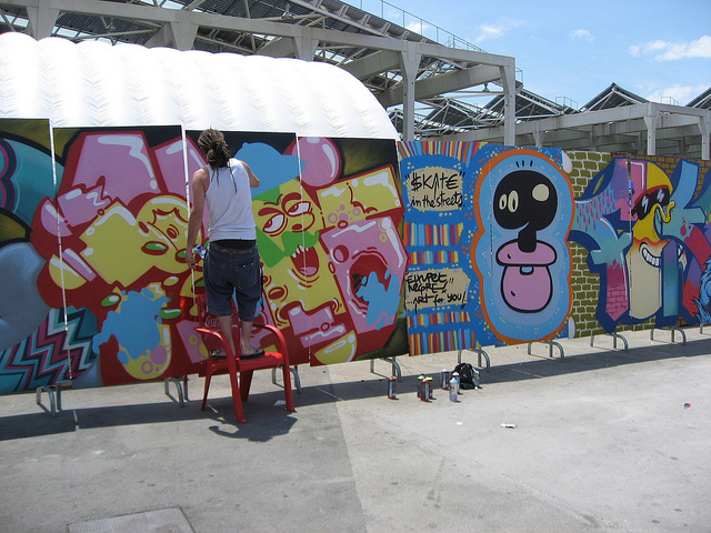 Graffiti at Barcelona extreme sports festival 2009