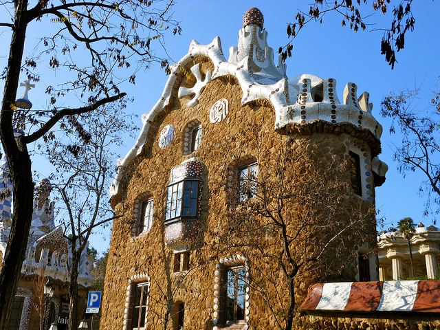 Gingerbread house at Parc guell by Antonio Gaudi