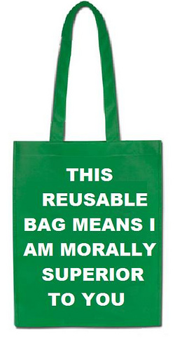 Be environment friendly by using paper or cloth bags