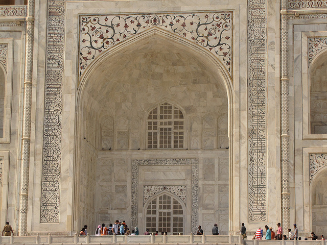 Taj mahal is made up of marble