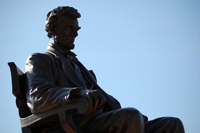 Abraham lincoln, Memorial statue of Abraham Lincoln located in Hodgenville Kentucky.