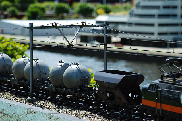 Small trains at Madurodam