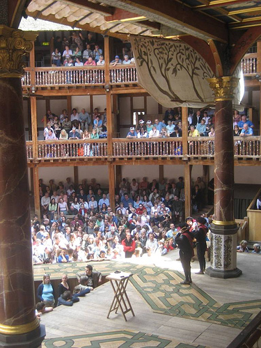 Globe theatre where plays were performed