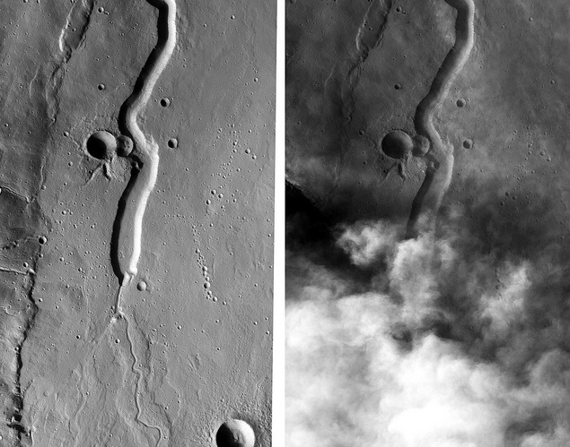 Dust-storm brewing up on Mars