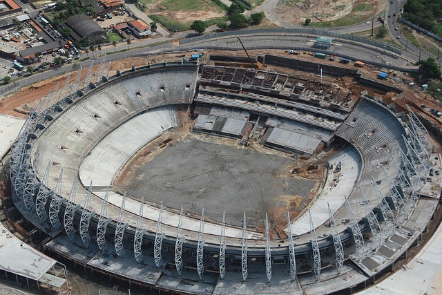 Castelao Arena under renovation