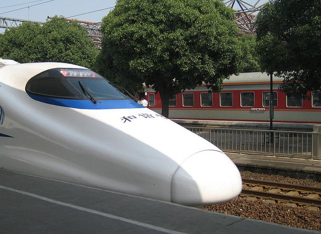 A Bullet train in China