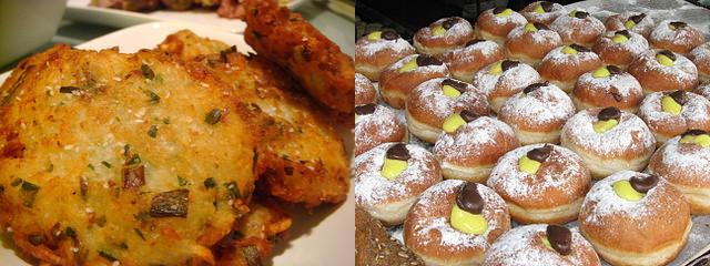 Latkes and Sufganiyot