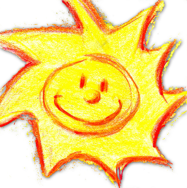 Sun radiates a lot of energy that keeps us warm.