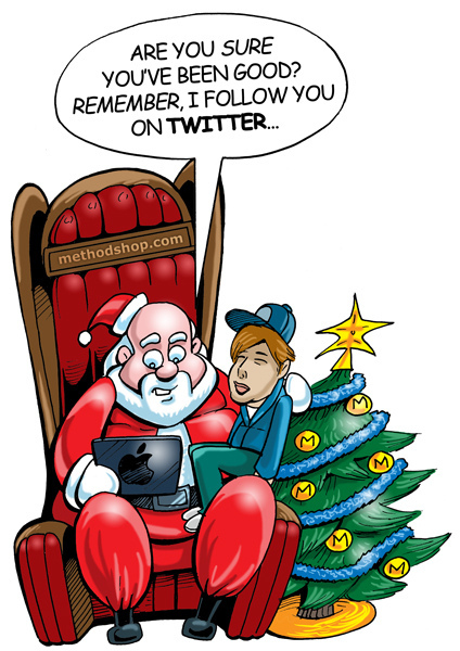 Santa following you on twitter