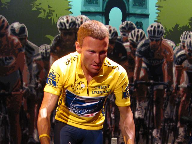 Ace cyclist Lance Armstrong