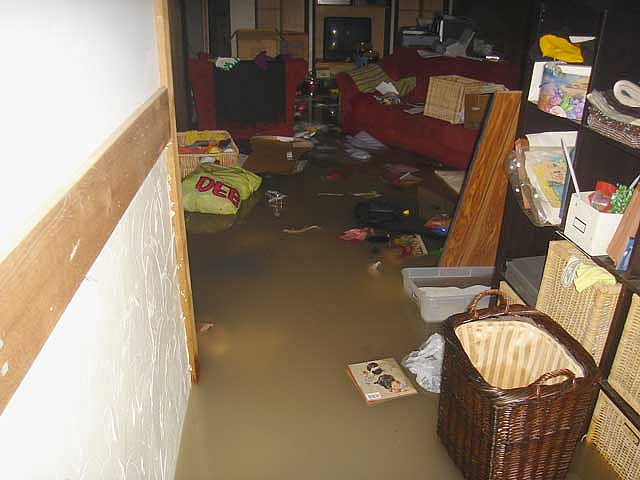 Hurricane Sandy had flooded the basement
