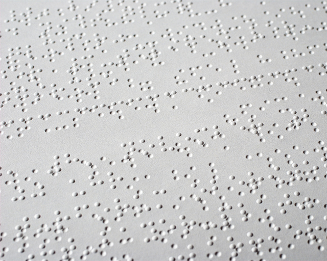 Braille on paper