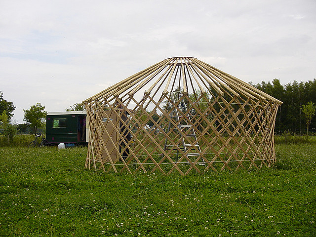 Frame of a Yurt