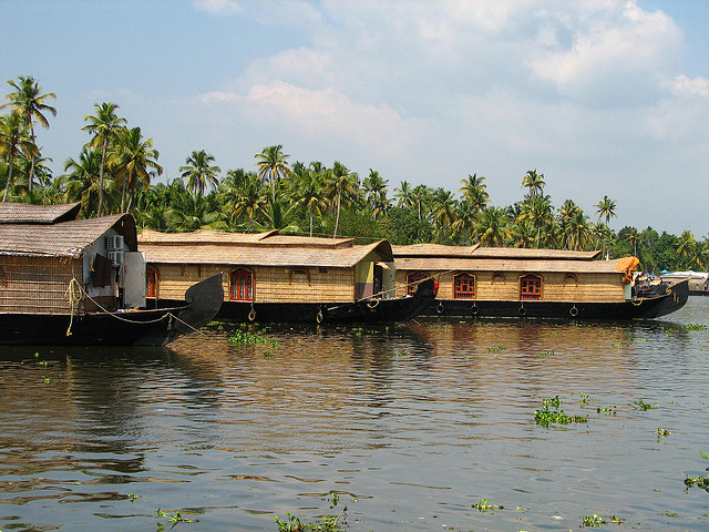 Houseboats in Kerela, India