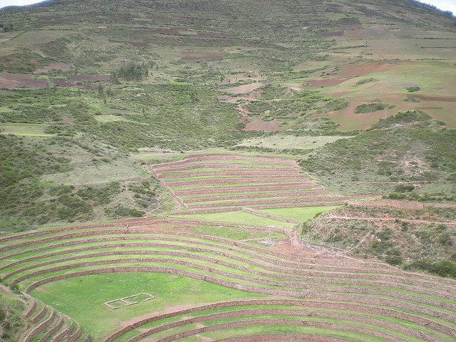 circular terraces of Peru