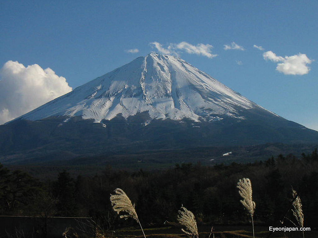 Symmetrical cone of Mt. Fuji