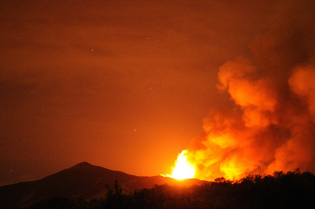 Mt. Etna Spews Lava