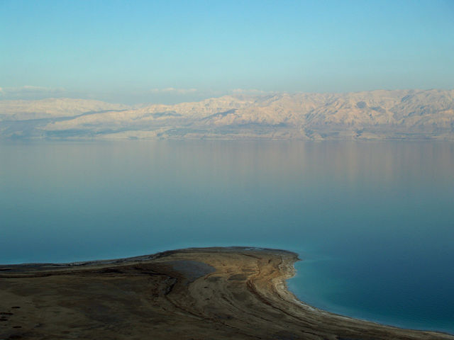 Dead Sea view from Israel side