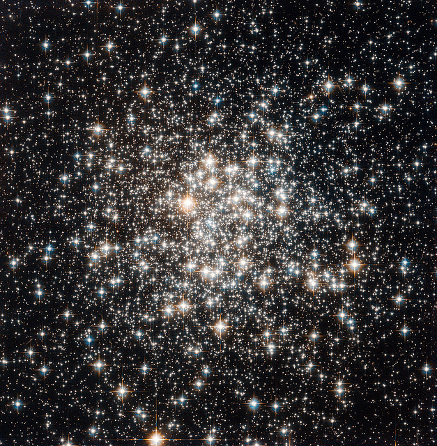 Herschel Telescope captures a cluster of stars