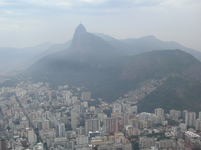 christ-the-redeemer on top of the mountain