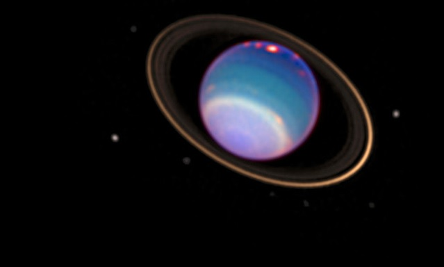 Uranus in infra red light