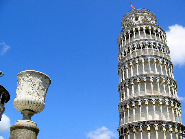 Top of the Leaning tower of pisa