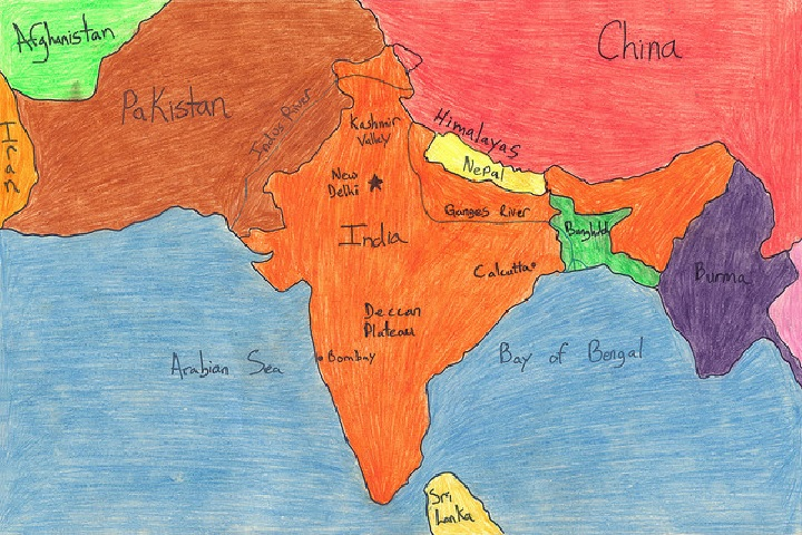 Indus Valley Civilisation Facts For Kids History Kinooze - World map indus river