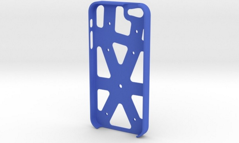 A phone case via 3d printing