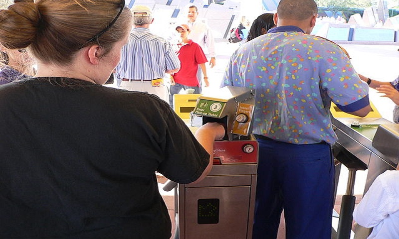 At Walt Disney World in Florida, biometric measurements are taken from the fingers of guests to ensure that a ticket is used by the same person from day to day