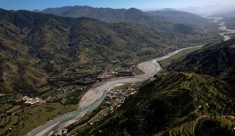 An aerial view of Swat Valley, Pakistan