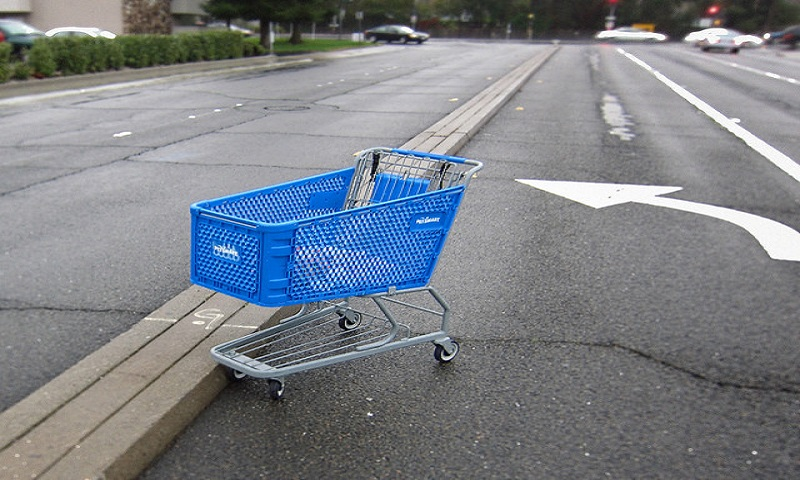 In case of a cart left at the shop's parking lot, the scanners will raise a flag, Image Credit: Flickr User Robert Couse-Baker, via CC