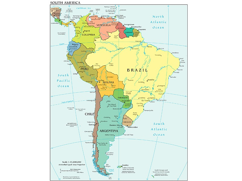 The political map of South America, Image Credit: Wikimedia Commons